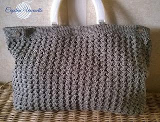 Borsa ad uncinetto in cotone