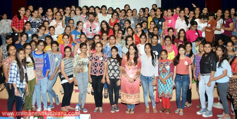 Students pose for a group photograph during Two Day Theatre Workshop at KCW
