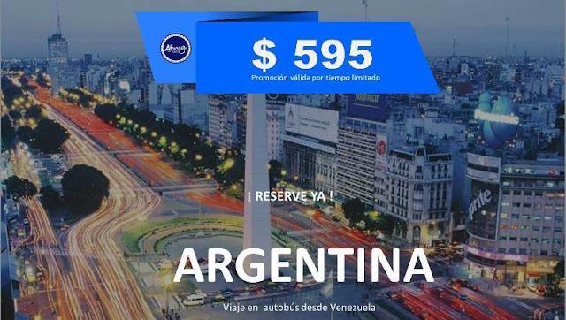 Argentina viaje en autobús desde Venezuela