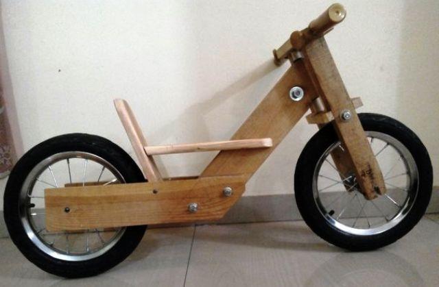 cara membuat sepeda kayu