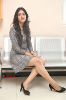Actress Chandini Chowdary Pos in Short Dress at Howrah Bridge Movie Press Meet  0142.JPG