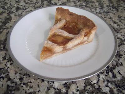 Tarta linzer de naranja y cacao