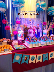 Disney Frozen Dessert and Sweets Table
