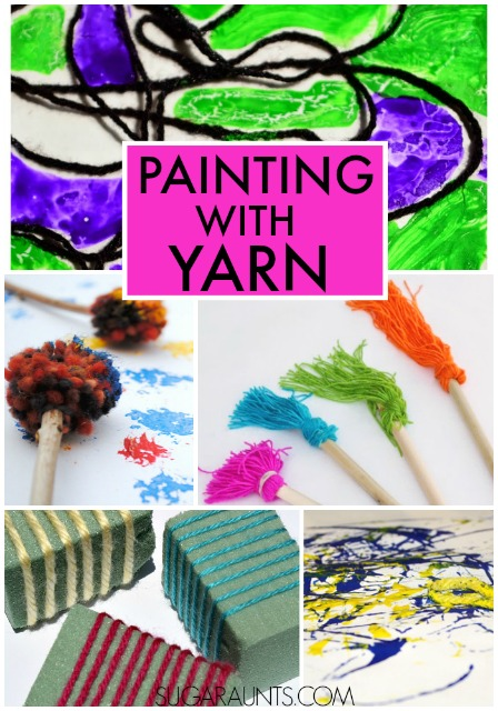activities for painting with yarn. Art for kids