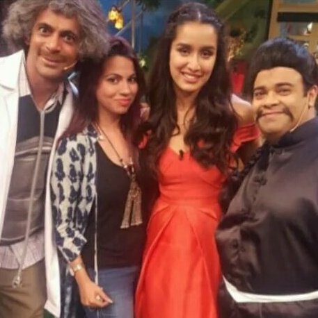 Team Baaghi on the sets of 'The Kapil Sharma Show'.