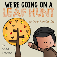 We're Going on a Leaf Hunt book study companion activities- includes an interactive story mapping anchor chart!