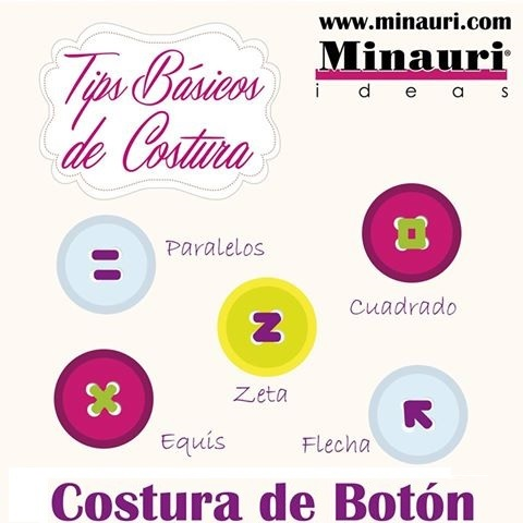 How to sew botton - Cómo coser un botón - Minauri - Curso Costura Creativa - Sewing Course