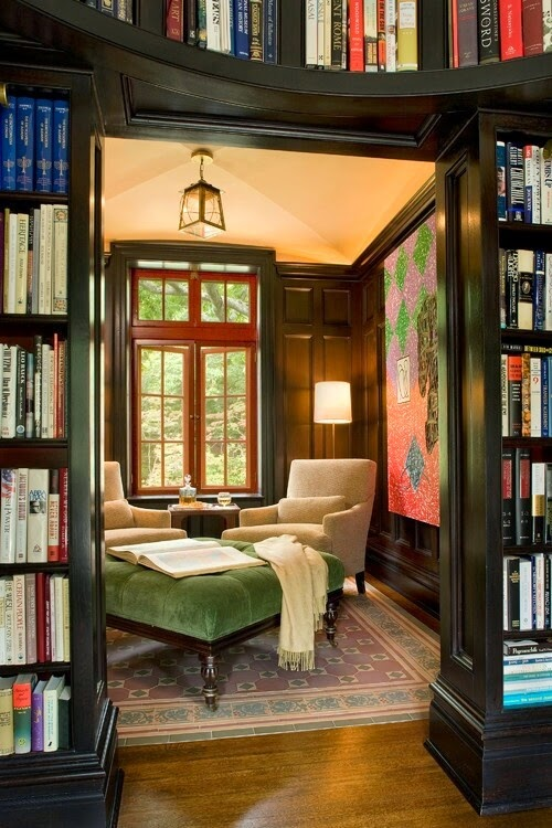 Rustic Library Den: South Shore Decorating Blog: Home Libraries -- The