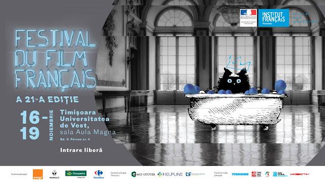 Editia a 21-a Festivalului Filmului Francez va avea loc la Timișoara în perioada 16-19 noiembrie.