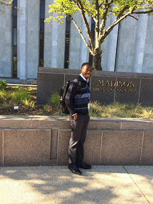 Adegbilero Idowu on the Capitol Hill, Washington, DC.