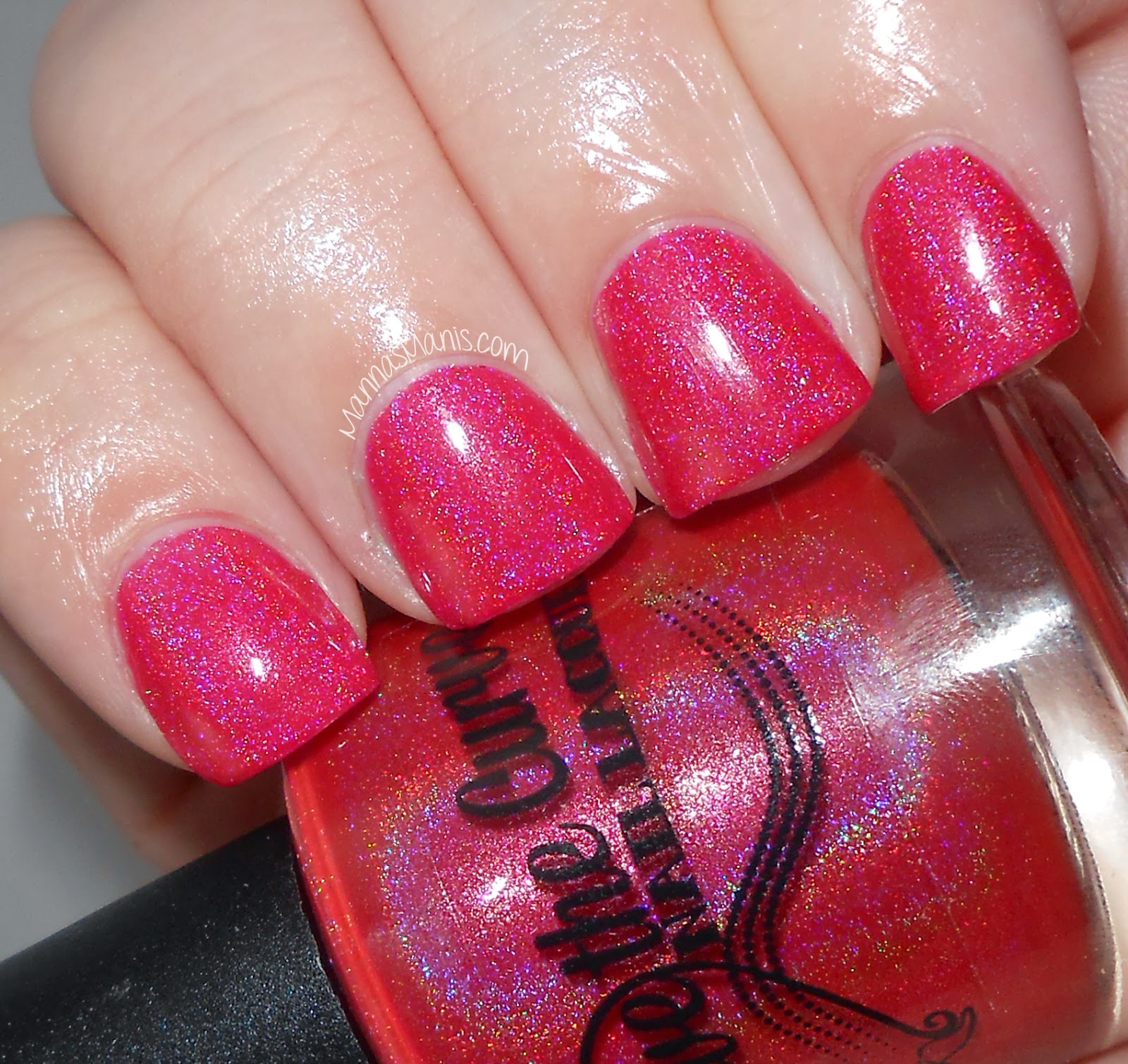 above the curve watermelon, red jelly indie nail polish