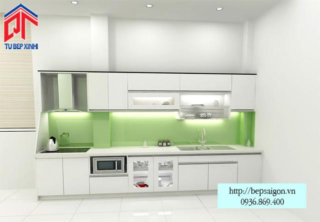 Những mẫu tủ bếp đơn giản, tiện ích cho phòng bếp