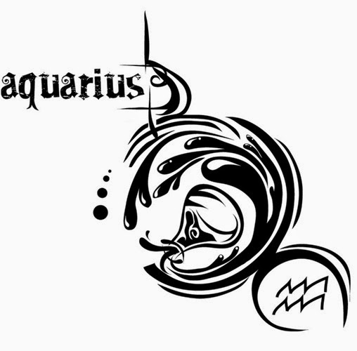 Aquarius zondiac tattoo stencil