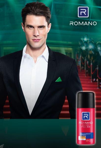 semburan deodoran ROMANO, maskulin, lelaki urban