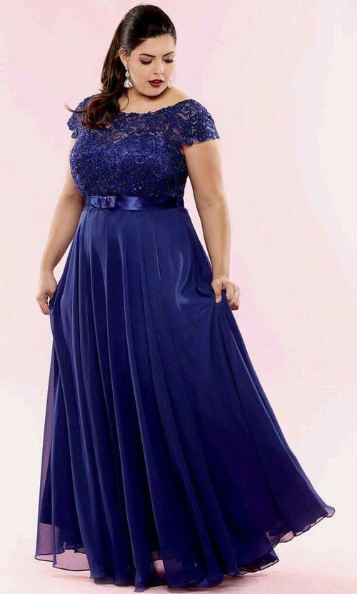 Mujeres gordas con vestidos largos