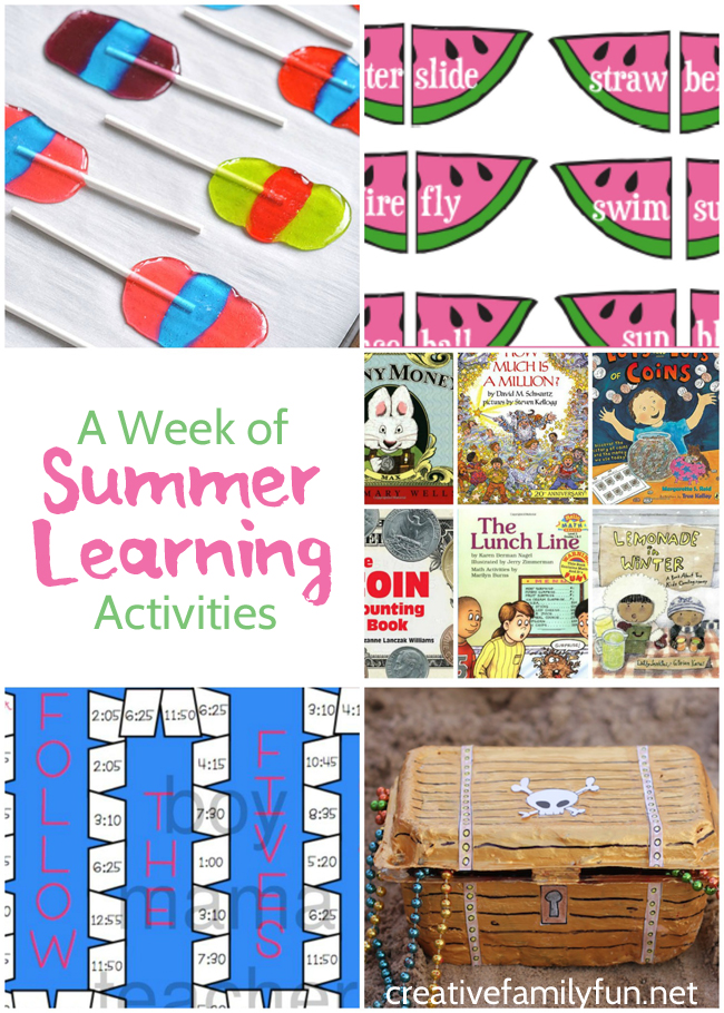 Find some great summer learning ideas at the After School Linky Party
