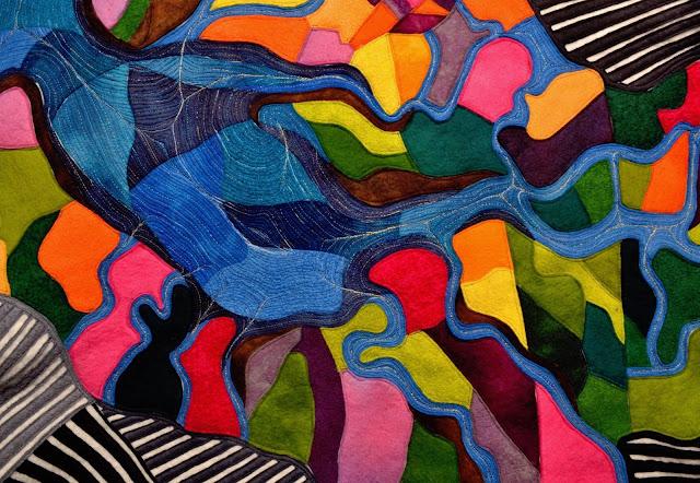 arystyczne zszywanie tkanin