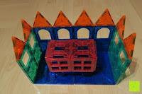 Schloss: Playbees 100 Teile Magnetische Bausteine Set für 2D und 3D Form Konstruktionen, Regenbogenfarben Magnetspielzeug, Baukasten Magnetspiel, Magnetbausteine