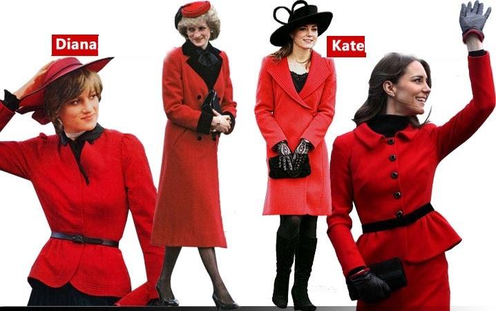 Shopping Simple Fashion Comparison Between Princess Diana