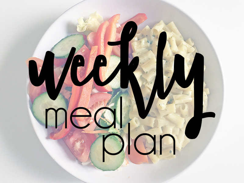 Weekly Meal Plan #14 | Capturing These Days