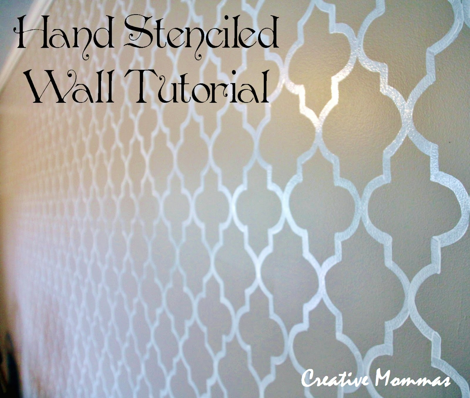 Simple Wall Designs Stencils Creative Mommas Stenciled Wall