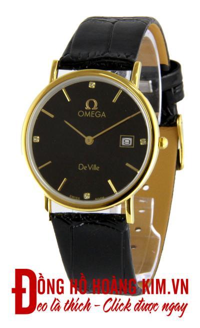 đồng hồ nam dây da omega giảm giá 10%