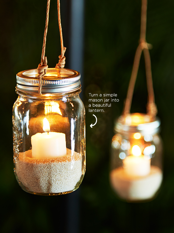Canadian Tire CANVAS | Mason Jar Lantern | Rambling Renovators