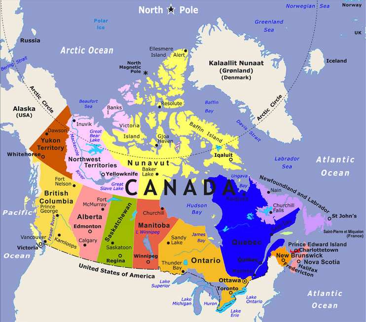 Map Of Canada With Labels.Top 10 Punto Medio Noticias Map Of Canada With French Labels