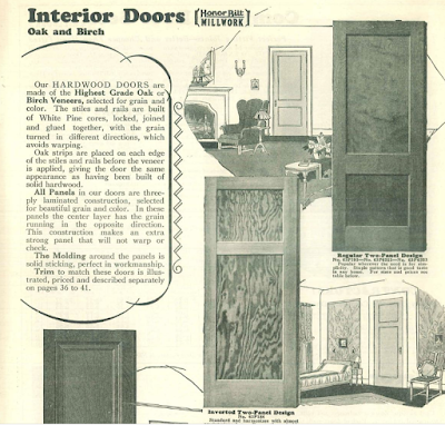 Sears modern homes interior doors in catalog 1930