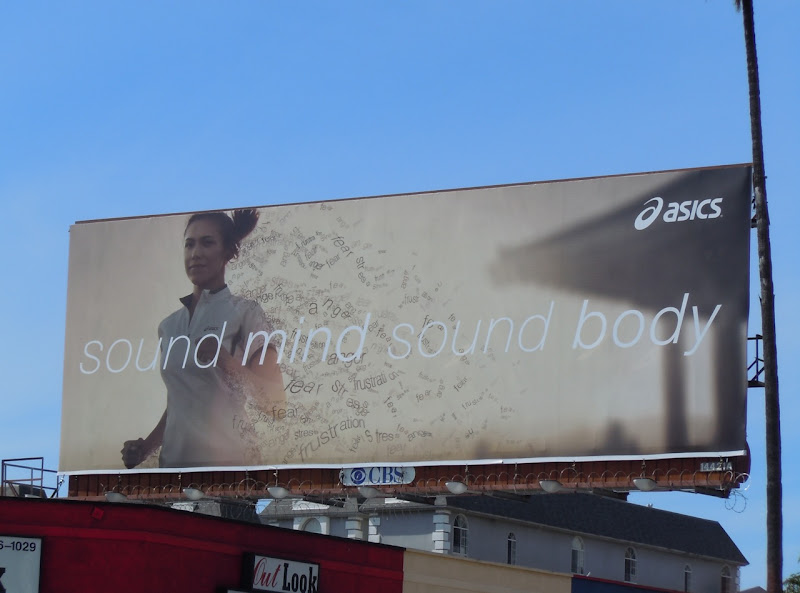 Asics Sound Mind Sound Body billboard