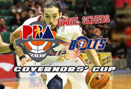 List of Games Schedules: Meralco Bolts 2016 PBA Governors' Cup
