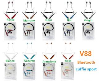cuffie bluetooth v88 sport