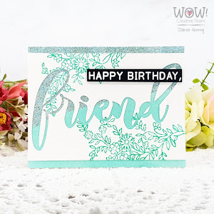 Birthday Card WOW Embossing Powde
