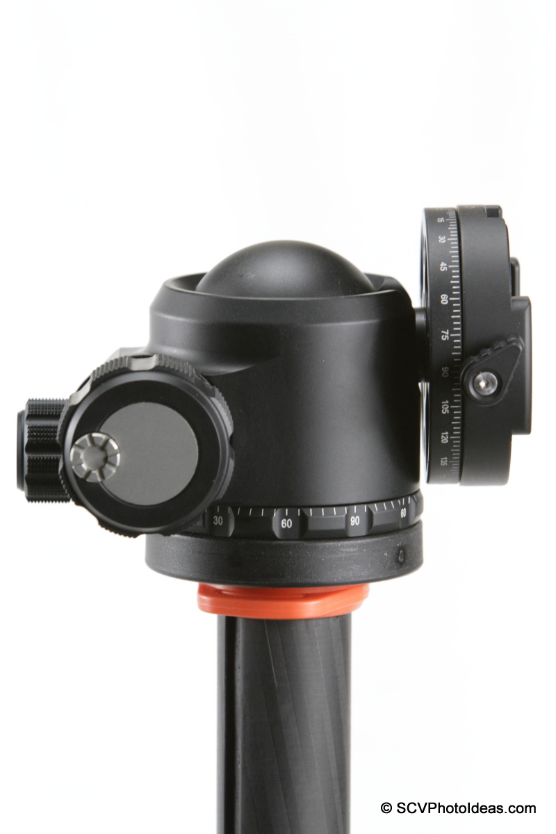 Sunwayfoto DDH-03 PC on XB-44 LP ball head - tilted