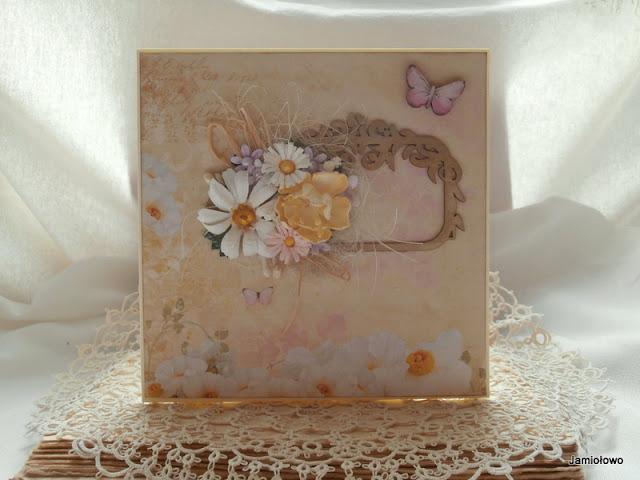 kartka z motywami kwiatowymi