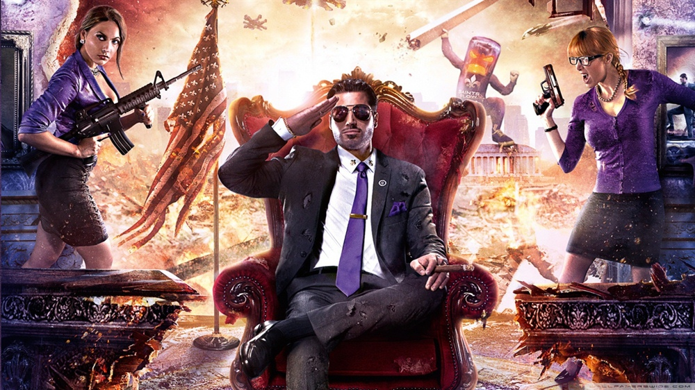 Saints Row 4 Free Download Poster