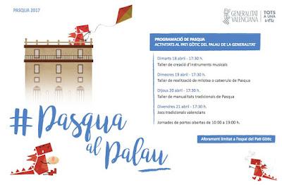 El Palau de la Generalitat celebra la Pascua con talleres y juegos tradicionales valencianos en su patio gótico