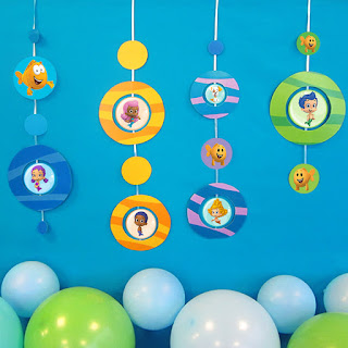 free bubble guppies party decorations