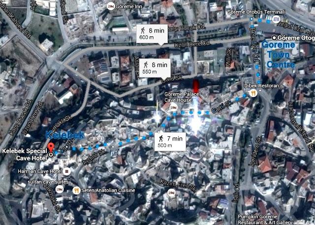 Kelebek Cave Hotel map