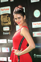 Meenakshi Dixit in Red One Shoulder Red Zipped up gown at IIFA Utsavam Award 39.JPG