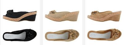 Originales sandalias con cuña y efecto corcho
