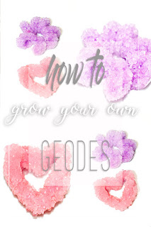 diy science kids crystals geode geodes crystal how to idea grow