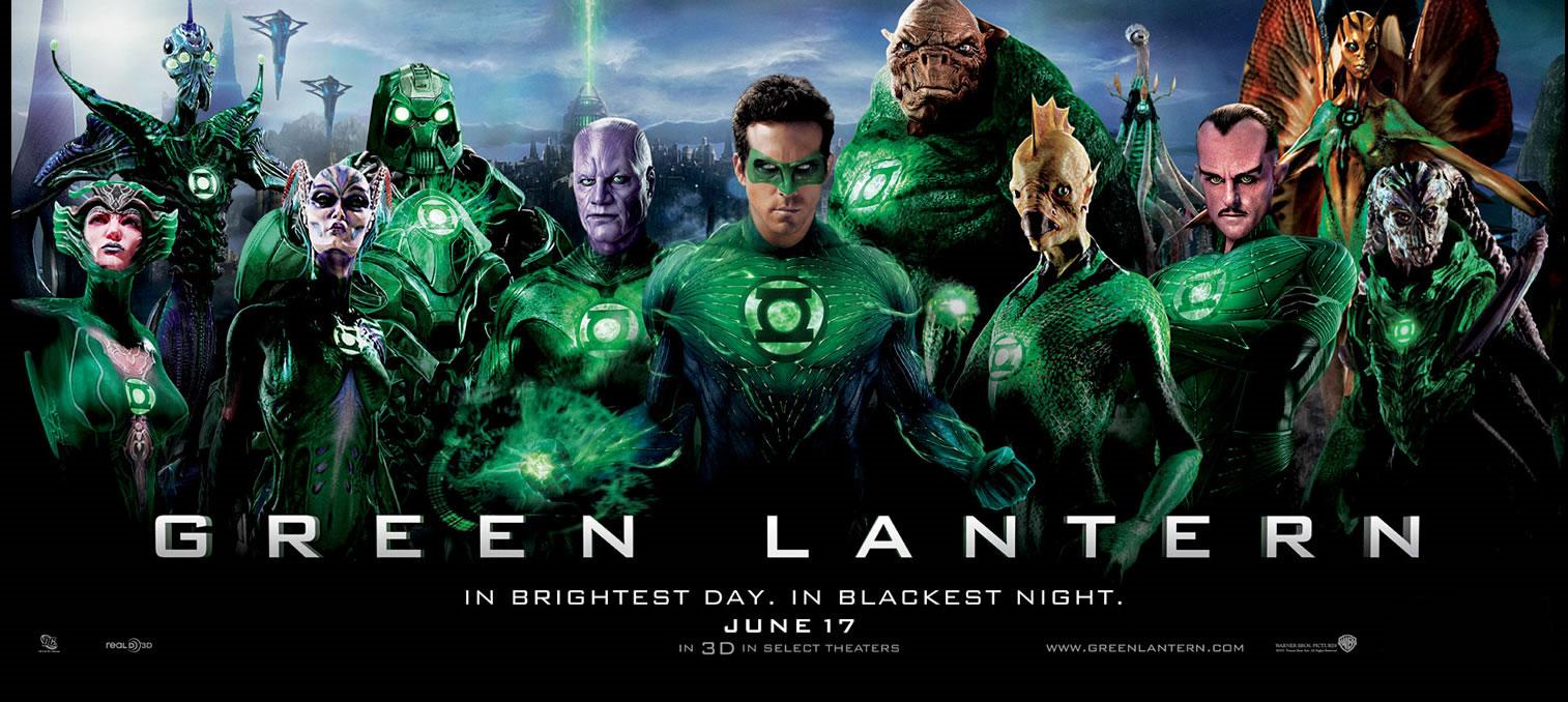 Póster y banner de 'Green Lantern' – No es cine todo lo que reluce