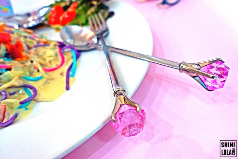 Pink Diamond Spoon & Fork