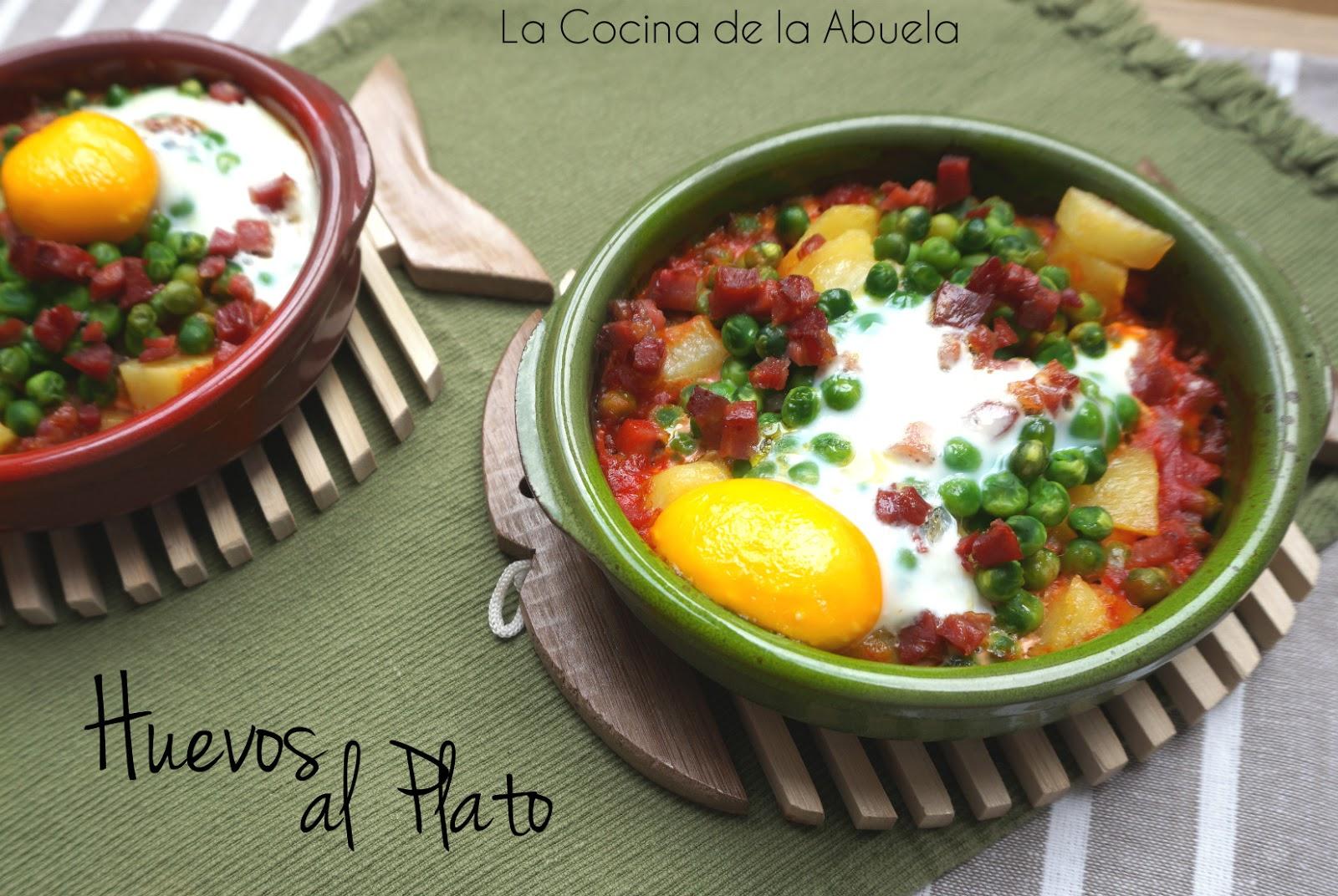 Huevos al plato for Cocina 1 plato