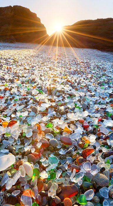 Glass Beach is a Beach in MacKerricher State Park near Fort Bragg, California