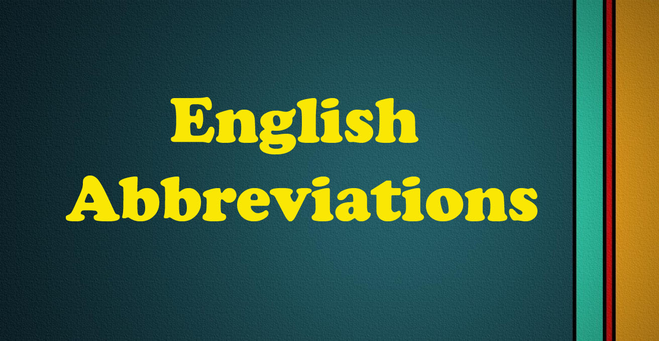 English Abbreviation Words
