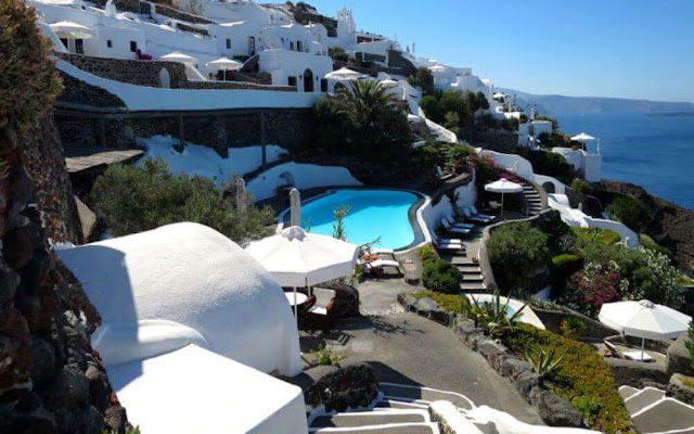The charming and intimate Perivolas Lifestyle Houses is the ultimate in the relaxed and elegant simplicity of Santorini's island living in Greece.