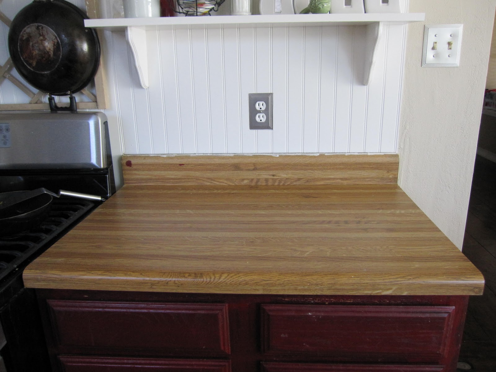 Allen And Roth Countertops Breakfast For Dinner Faux Butcher Block Conter Top Tutorial