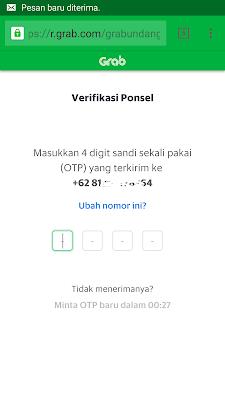 cara verifikasi nomor hp di aplikasi grab